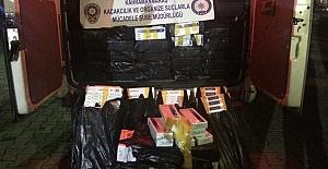 Kahramanmaraş'ta Kaçak Sigara Ele Geçirildi