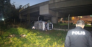 Köprüden Düşen Araçta 4 Yaralı