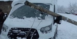 Yumaklıceritte Kar Direk ve Ağaçları...