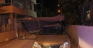 Polisten Kaçtı Taziye Çadırına Çarptı
