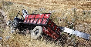 Traktör Devrildi 2 Yaralı