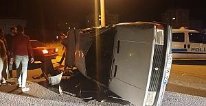 Ehliyetsiz Sürücü Kaza Yaptı 4 Yaralı