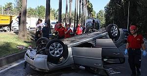 Otomobil Devrildi 6 Yaralı