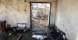 Evde Çıkan Yangında Öldü
