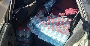 Otomobilde İçki Ele Geçirildi