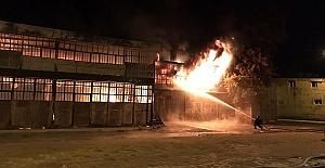 İmalathanede Yangın Çıktı