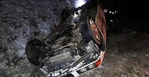 Kazada Sürücü Yaralandı