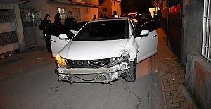 Aracı Çaldı Kaza Yaptı
