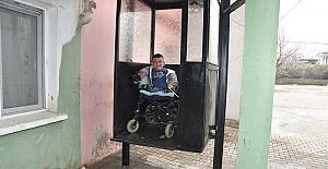 Hasta Genç İçin Asansör Yapıldı