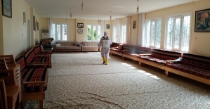 Dulkadiroğlu'nda Cami ve Cem Evleri Dezenfekte Edildi