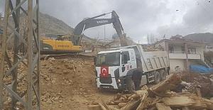 Kahramanmaraş'ta Binalar Yıkıldı