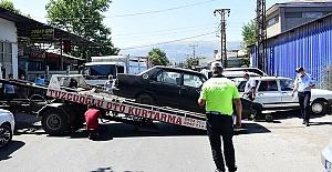 Dulkadiroğlu'nda Hurda Araçlar Toplanıyor