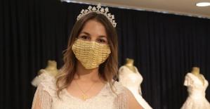 Gelinlere Altın İşlemeli Maske Fiyatı 14 Bin Lira