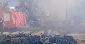 Depoda Çıkan Yangın Evleri Yaktı