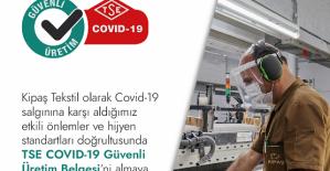 KİPAŞ, Covid-19 Güvenli Üretim Belgesi Aldı