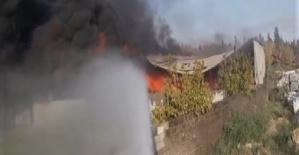 Kahramanmaraş'ta Fabrikada Yangın Çıktı