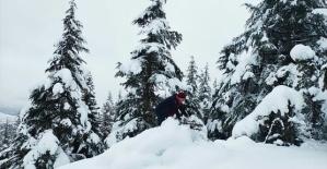 Göksun'da Kar Kalınlığı 1 Metreyi Aştı