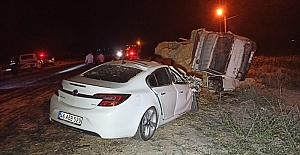 Kamyonla Otomobil Çarpıştı 7 Yaralı