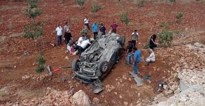 Otomobil Takla Attı 5 Yaralı