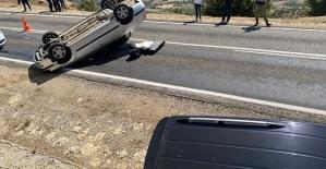 Otomobil Takla Attı 1 Yaralı